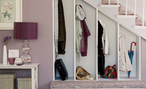 Make the most of nooks and crannies with custom built storage solutions to house everyday items like school bags, jackets and hats.