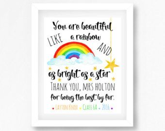The 25 best daycare teacher gifts ideas on pinterest gifts for daycare teacher gift end of year teacher by perfectlittleprints negle Images