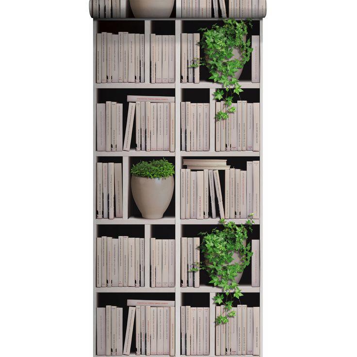 Bien Papier Peint Bibliotheque Leroy Merlin #5: Papier Peint Vinyle Sur Intissé Bibliothèque Lierre, écru, Larg. 0.53 M | Leroy  Merlin | TED Project | Pinterest | Ted