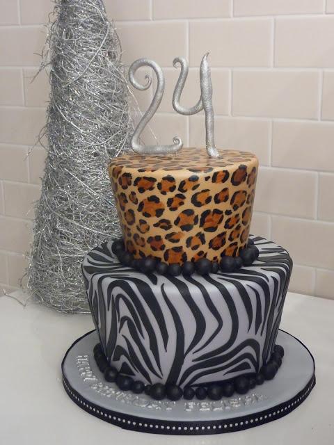 JAdore Cakes Co.: Leopard and Zebra print cake