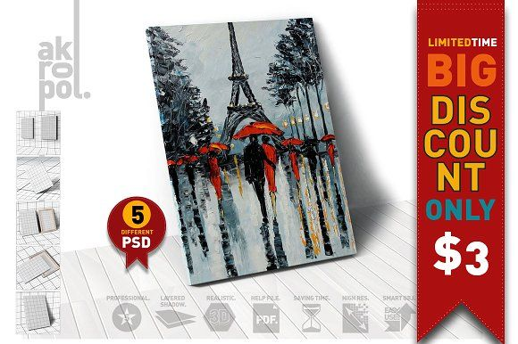Canvas Mock-Up by akropol on @creativemarket