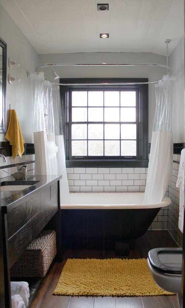 I love this bathroom except the tile...being a housekeeper I know better.
