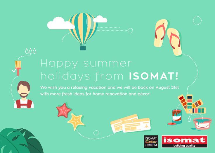 Happy summer holidays from ISOMAT!