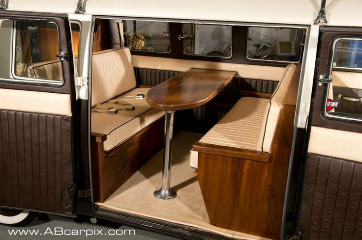 Vw Camper Van >> Coco Kustom's African walnut interior in a 67 split screen van | Caravan Interiors: On the Road ...