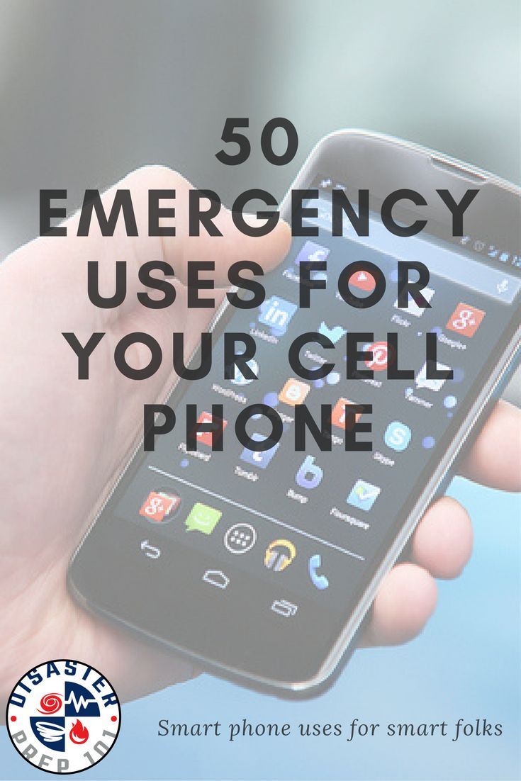 50 ways that the camera on the phone you carry with you every day could help save your life in an emergency.
