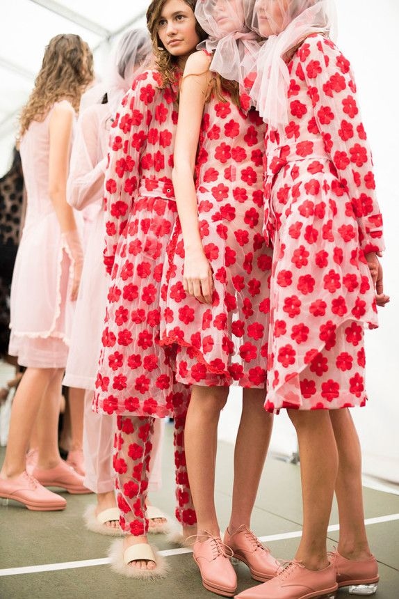 Nice photo by Jason Lloyd-Evans from Simone Rocha Spring 2015 Backstage