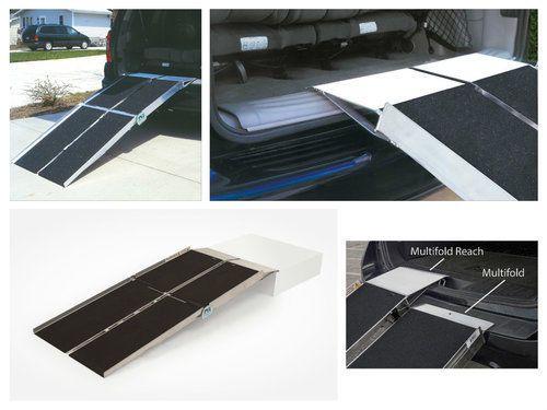 Wheelchair-Ramp-Homes-Portable-Folding-Van-Aluminum-Car-Chair-6-039-Utility-Access
