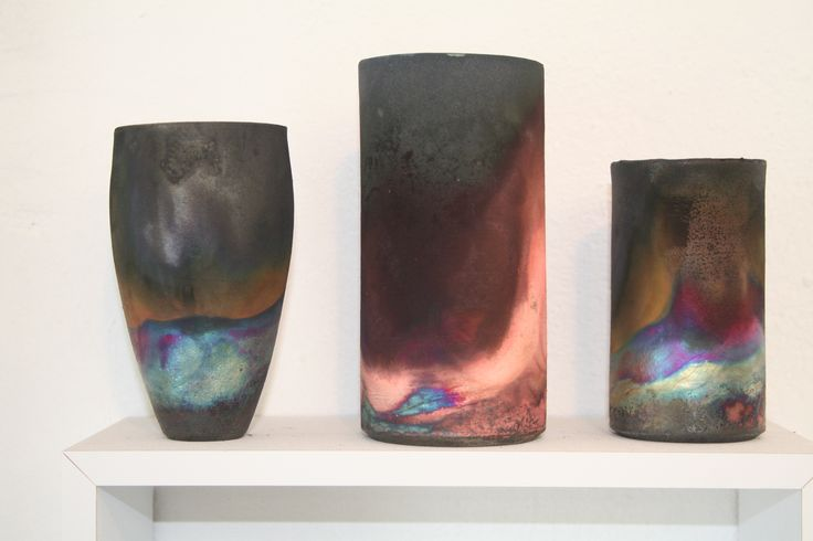 Aylesford Pottery in Kent. Raku and fuming ware, August 2015.