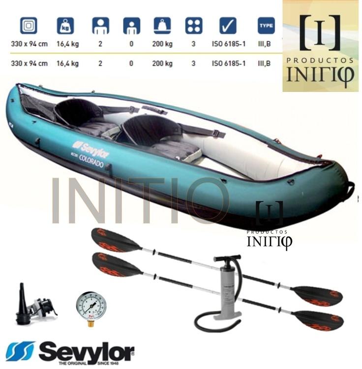 Canoa Kayak Inflable Colorado Sevylor 2 Pers.inflador Gratis