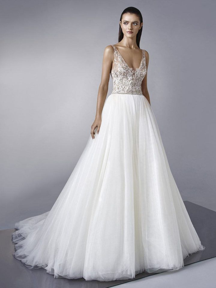 fd4ef6c0be The latest wedding dresses from Enzoani are seriously stunning! Enzoani  strives to design for the sophisticated bride who dreams of wearing a  luxurious gown ...