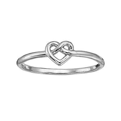 Lauren Conrad Heart Knot Ring - $12.00 - Promise rings can be simple and inexpensive. As long as they have meaning attached to them.