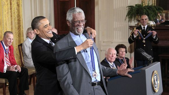 George Stephanopoulos thinks Bill Russell is Morgan Freeman