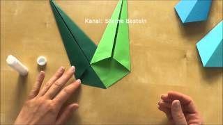 Sterne Basteln - Weihnachtsdeko basteln - YouTube