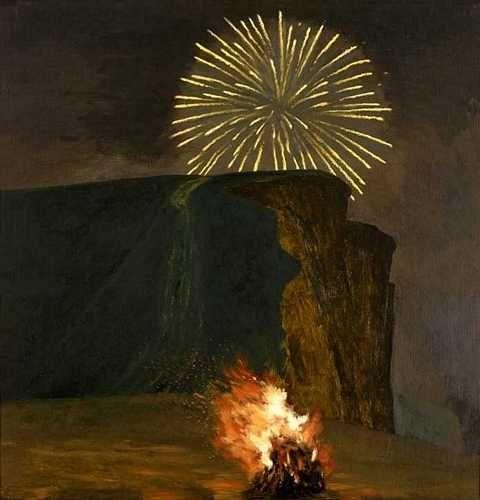 DAVID INSHAW Firework and Bonfire, West Bay, 2000