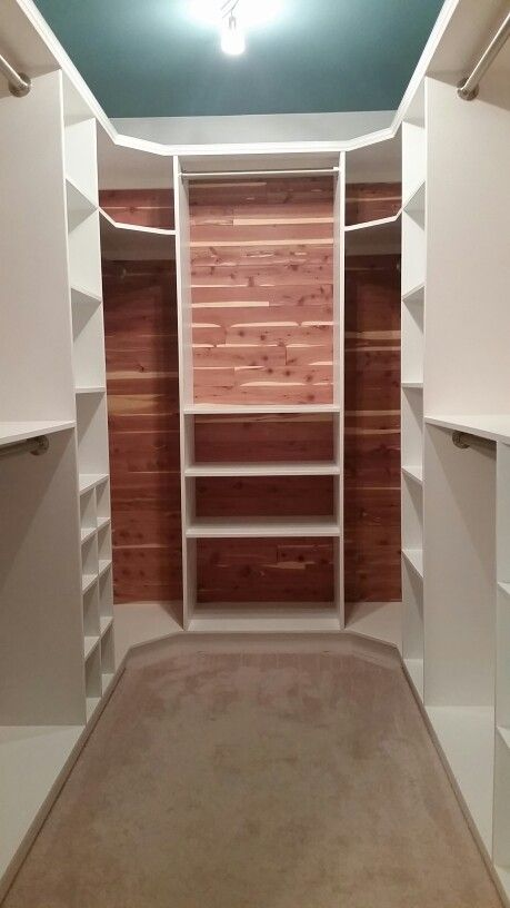 Cedar-lined walk-in closet.