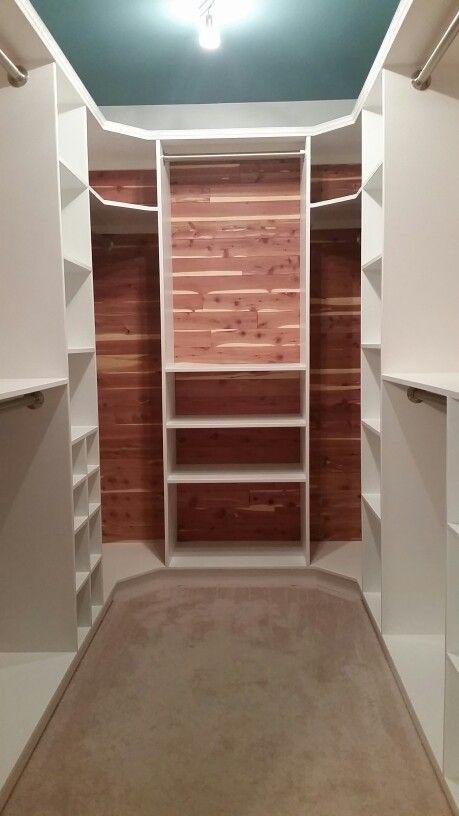 Cedar-lined walk-in closet.