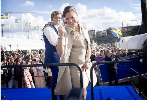 Crown Princess Victoria in a MAYLA Dress as seen on Kungliga Modebloggen