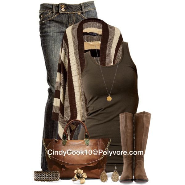 Casual Outfit: Sweater, Style, Dress, Cardigan, Fall Outfits, Fashionista Trends, Brown, Casual Outfits, Fall Winter