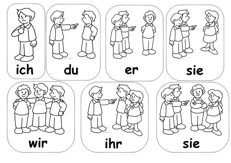 Personalpronomen, Deutsch, Grammatik, Personen, ich du er sie es wir ihr sie mit Bildern, alle Klassen