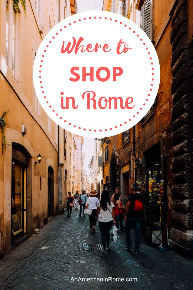The best streets for shopping in Rome