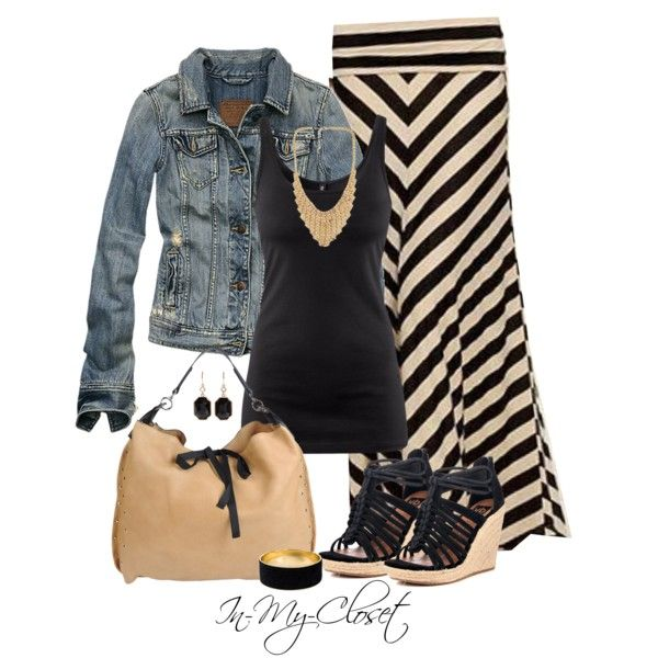 Casual Outfit: Shoes, Fashion, Style, Jeans Jackets, Clothing, Long Skirts, Denim Jackets, Casual Outfits, Maxi Skirts