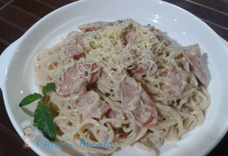 Carbonara is an Italian pasta dish from Italy made with eggs, cheese, bacon, and black pepper. Ho...