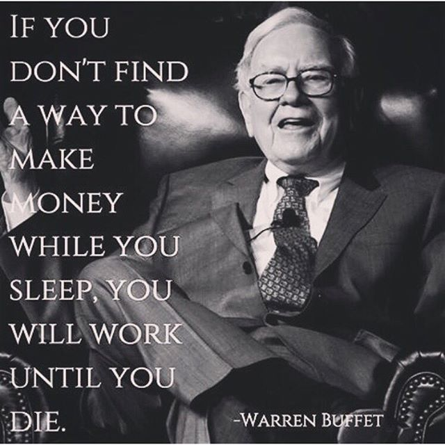The importance of passive income by Warren Buffet ... want residual ? Krystlemk.mymonat.com