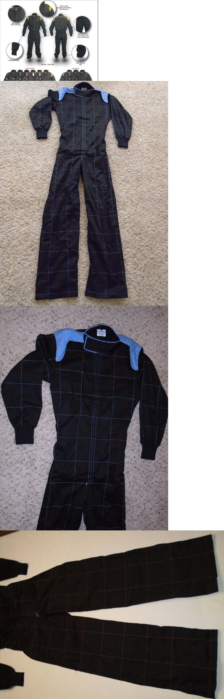 Clothing and Protective Gear 159029: Go Kart Racing Suit Corporate Racing Overalls With Color Shoulder N Box Quilted -> BUY IT NOW ONLY: $46 on eBay!