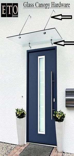 echtglas vordach vsg mit aufh ngungen bzw halterungen nach oben verlaufende stangen home. Black Bedroom Furniture Sets. Home Design Ideas