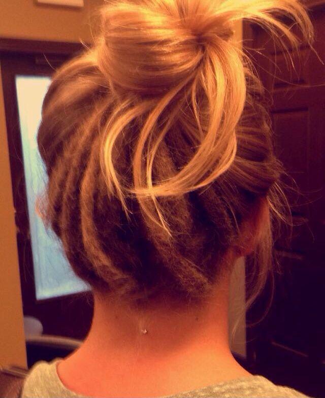 Half dreads and a dermal! ✌️