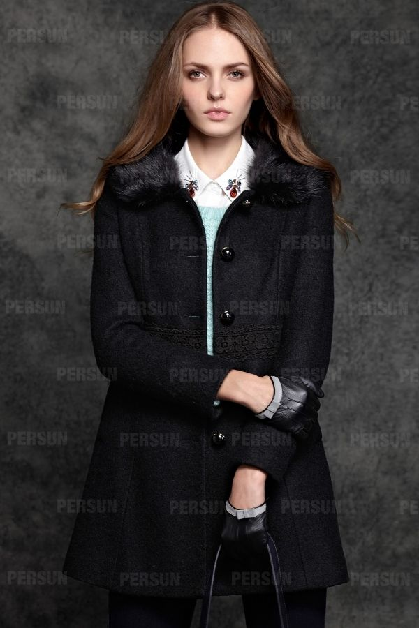 #persunmall Sweety Fur Collar Coat with Lace Waist Design [FEBK0564] - http://www.persunmall.com/p/sweety-fur-collar-coat-with-lace-waist-design-p-22300.html?refer_id=24643