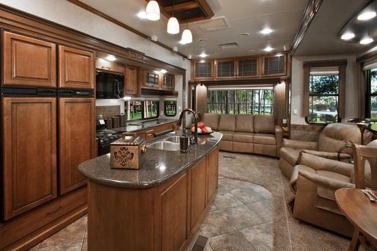 Best 25 luxury rv ideas on pinterest luxury motors - Infinity fifth wheel front living room ...