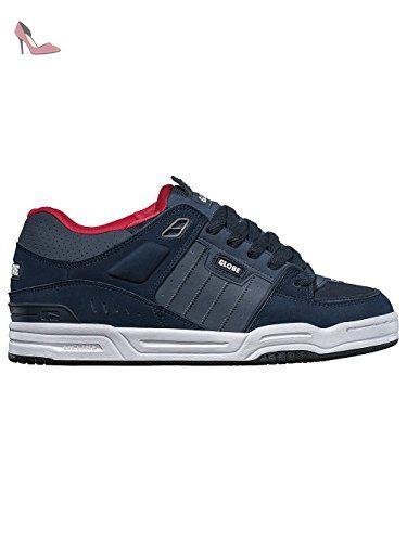 Globe Fusion, Basses homme - bleu - bleu marine/rouge, - Chaussures globe
