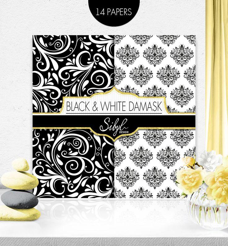 PAPELES DE SCRAPBOOK DAMASCO Damasco blanco y negro papel Digital paquete de boda.  Este paquete de papel Damasco es ideal para scrapbooking, cardmaking, invitaciones de boda, boda tarjetas, tarjetas, decoupage, etiquetas, menús, programas y cualquier otro su creativo proyectos del arte.  Los archivos se comprimirán en 2 carpetas ZIP. Simplemente extraiga los archivos de los archivos zip.  D E S C R I P T I O N: --------------------------- Este paquete de papel de Scrapbook de Damasco…