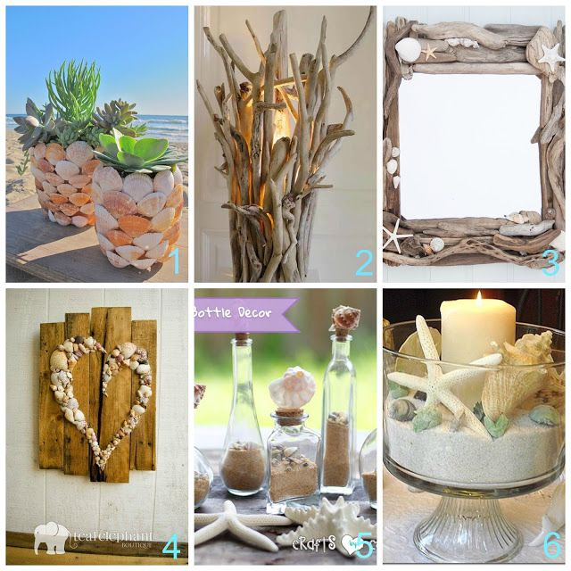 donneinpink magazine: Conchiglie e legnetti di mare per decorare casa co...