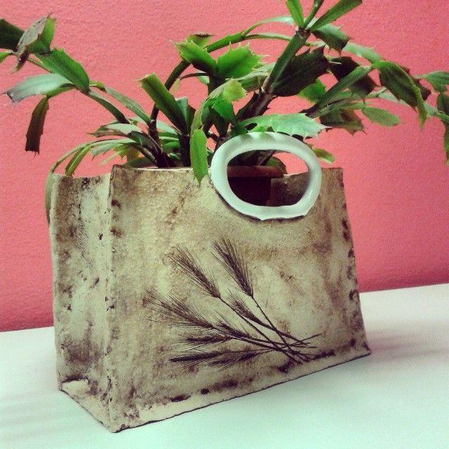 #keramika #ceramics #kvetinac #taska