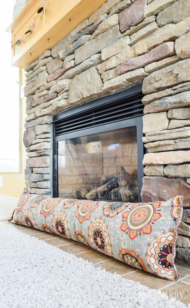 Fireplace Draft Stopper An Easy Diy Sewing Tutorial Fireplace