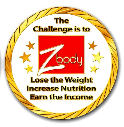Back side of the Zrii challenge coin designed to highlight the three goals that create a Z-body