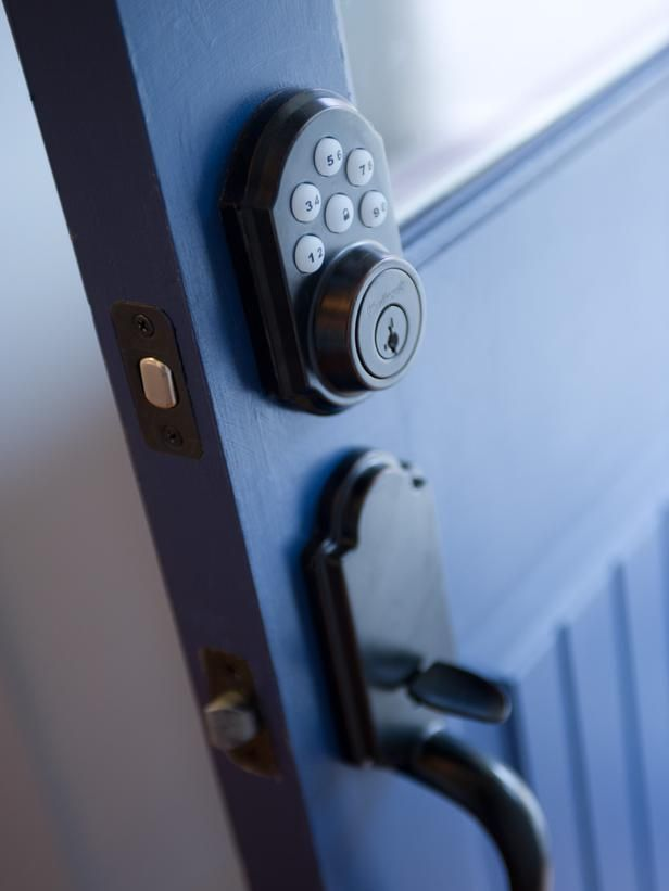 Front Yard Pictures From HGTV Smart Home 2014. Front Door LocksBlue ...