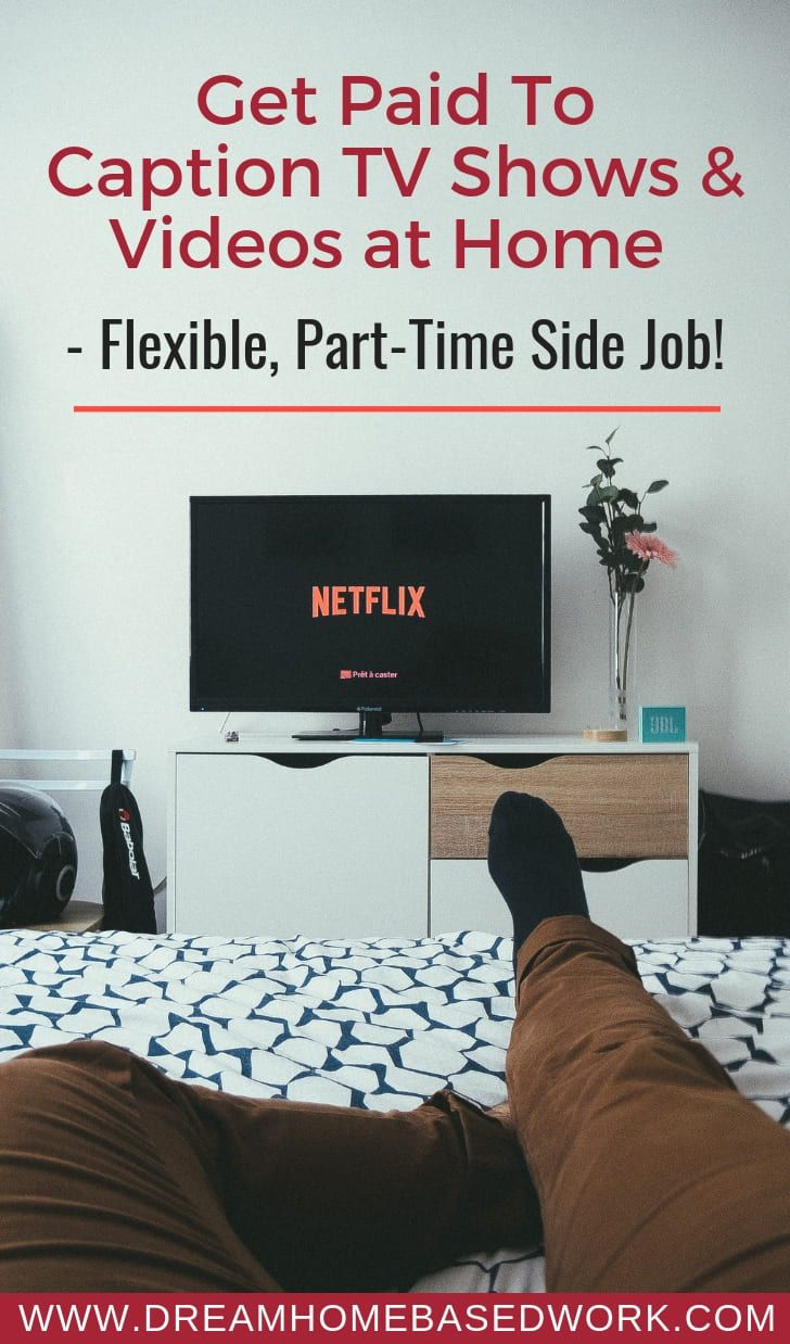 If getting paid to caption tv shows and videos at …