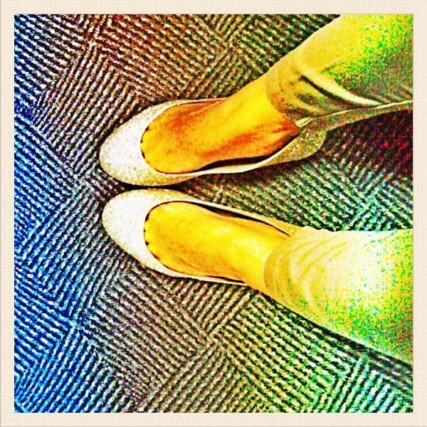 my first bling flat shoes :)