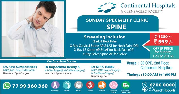 Sunday Super Speciality Clinic At Continental Hospitals! #Spine #HealthCheckup
