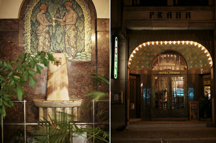 """The Praha Art Nouveau Hotel in Liberec. """"...the most smashing Art Deco with a hint of eastern bloc charm hotel..."""""""