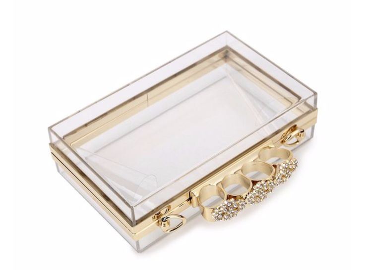 Ring Buckle Transparent Clutch
