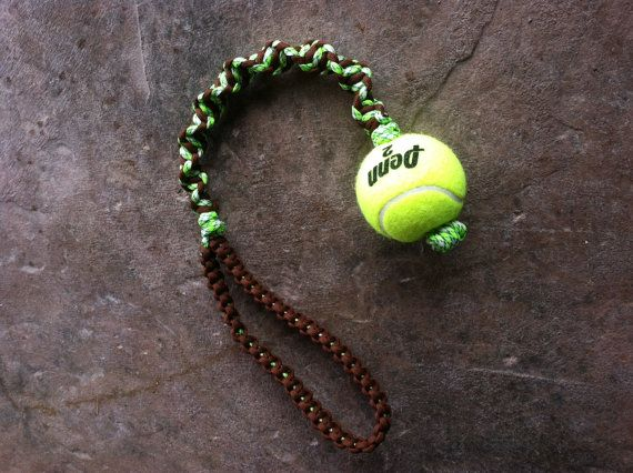 Paracord Knotted Dog Toy by SimpleLoops on Etsy