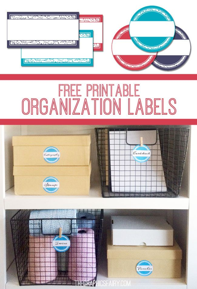 Printable Storage Labels (via Bloglovin.com )