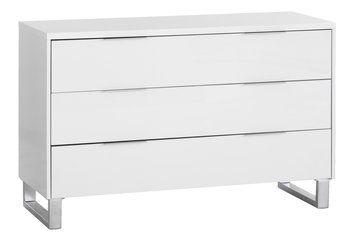 Komód STEGE 3 fiókos fehér magas fényű | JYSK