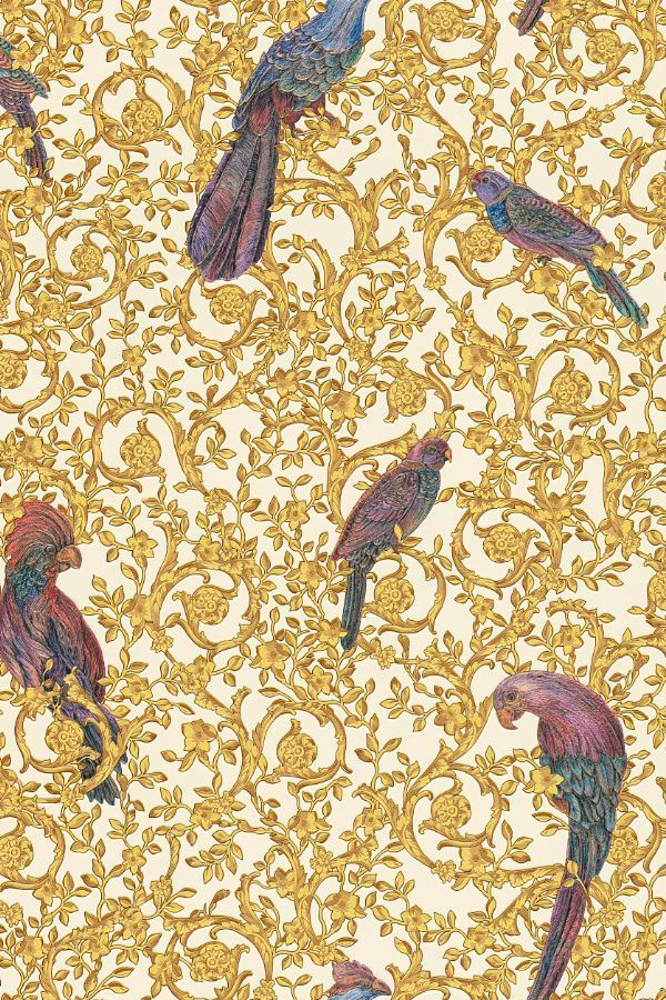 Barocco Birds By Versace Gold Wallpaper 37053 2 Gold
