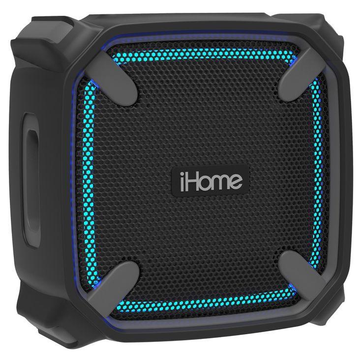 iHome iBT371BG Color Change Waterproof Speaker - Black