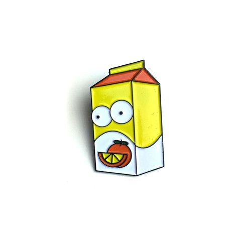 OJ SIMPSON The Simpsons x Orange Juice soft enamel lapel pin by NATE DUVAL from PINPOST